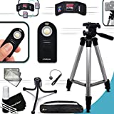 """Durable Full Size 60""""inch Tripod + Universal Camera Remote Control KIT For Canon EOS Rebel T6i T6S T5i T4i T3i T2i SL1 EOS 70D 60D 7D 6D 5D 5DS, 5DS R, 7D Mark II 8000D 760D 750D 700D 650D 600D 550D"""