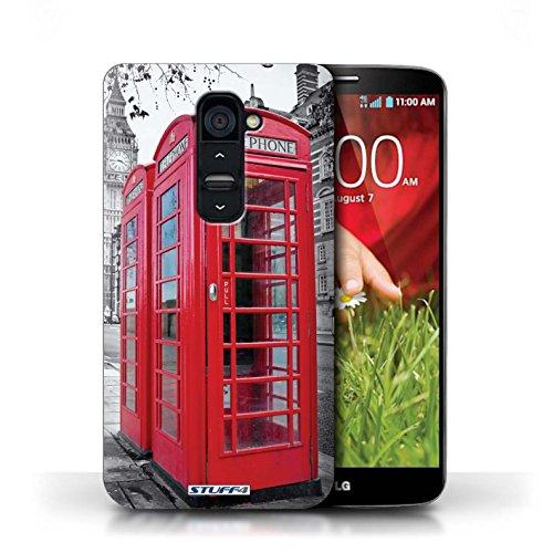Kobalt® Imprimé Etui / Coque pour LG G2 / Tower Bridge conception / Série Londres Angleterre Red Phone Box