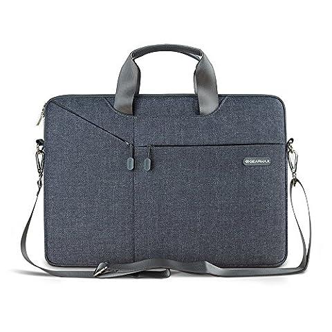 3 in 1 Laptop Schulter Tasche - Evershop Handtasche Schultertasche Aktenkoffer für Macbook Air Pro / Notebook / Oberfl?che (Grau, 11,6 Zoll)