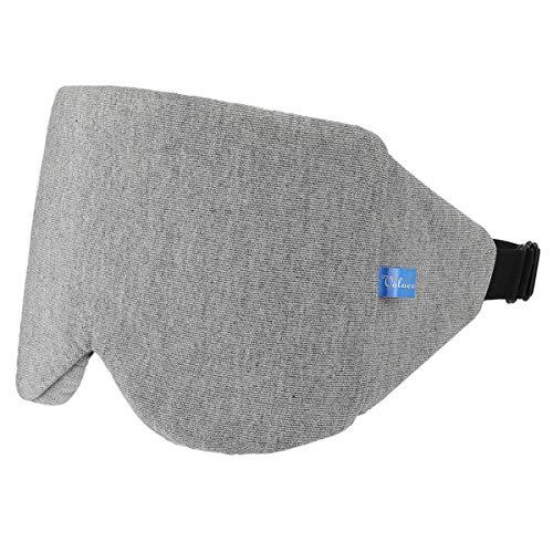 Schlafmaske, VOLUEX Upgraded Contoured Nachtmaske Ultraweiche, Atmungsaktive und Blockiert Licht 100% Schlaf-Augenmaske für Reise/Nickerchen/Nachtschlaf Ohrstöpsel für Herren und Damen Geschenk
