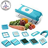 #4: BMS Accura Madind Premium Nicer vegetables and fruits Slicer Chippers and chopper, 1 Piece, Sky Blue
