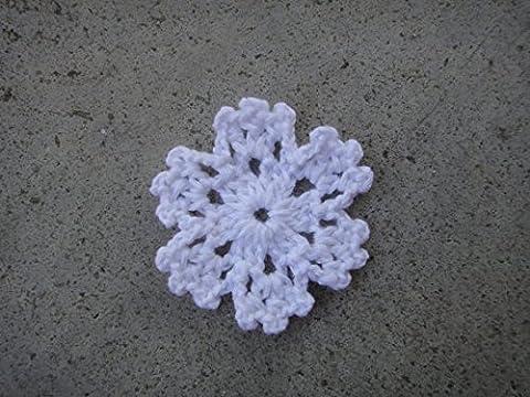 Crochet Fait Main Mini Napperon 5,1cm motifs flocon de neige blanc Lot de 10