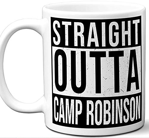 Military Gifts For Men, Women. Straight Outta Coffee Mug. Camp Joseph T. Robinson. Soldier Service Member Army Navy Air Force Marines Deployment Retirement Promotion Veteran Mom Dad Valentines. -