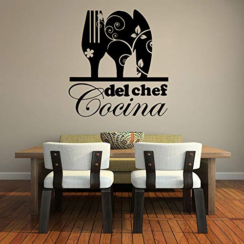 Kreative Küche Aufkleber Vinyl Wandaufkleber Für Küche Esszimmer Dekoration Abnehmbare Wandtattoos Aufkleber Wandbild Tapete 43 cm X 46 cm