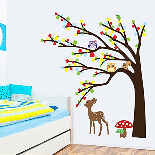 Evertrust (TM) Cartoon cute Animal cervo gufo albero fungo DIY