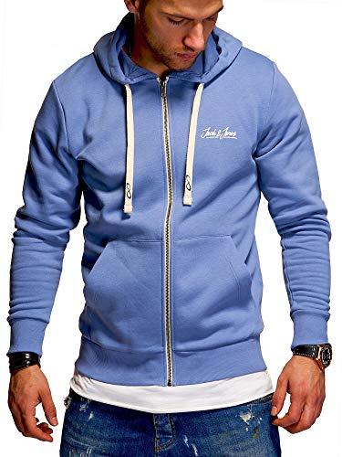 JACK & JONES Herren Sweatjacke Hoodie Kapuzenjacke Sweatshirt Kapuzenpullover (Medium, Infinity)