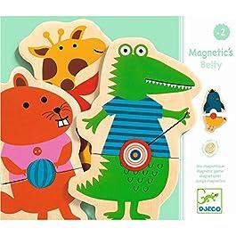 Djeco- Calendari dell'Avvento Giocattoli magnetici, Multicolore, 15