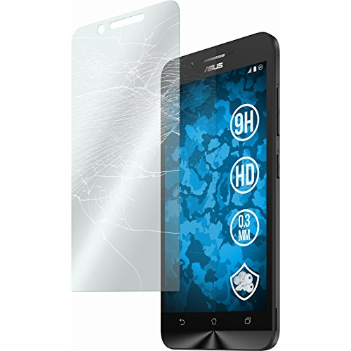 PhoneNatic 2 x Glas-Folie klar kompatibel mit Asus Zenfone Go (ZC500TG) - Panzerglas für Zenfone Go (ZC500TG)