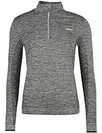 Slazenger Femmes Golf Zip Pullover Top Haut Pull Manches Longues Sport 1/2 Zip