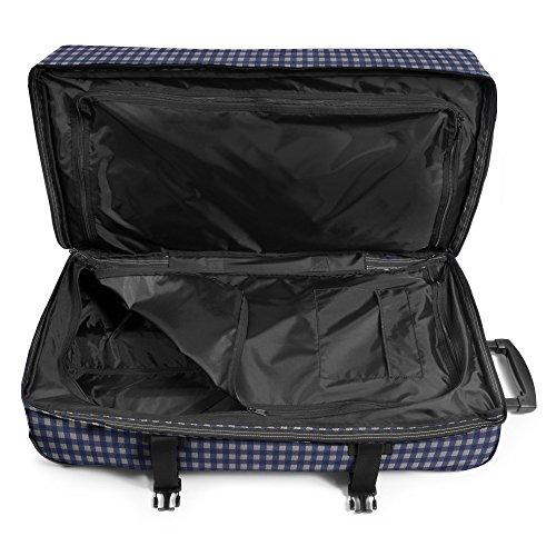 Eastpak Tranverz L Koffer, 77 cm, 121 Liter, Tailgate Grey Checksange Blue