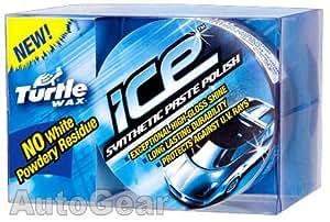 Turtle Wax Ice Pâte de polissage synthétique pour voiture avec chiffon microfibre et applicateur