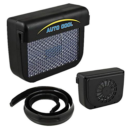 Eco-Friendly Solar Power Air Conditioner for Car Air Vent Cool Conditioner - Black -