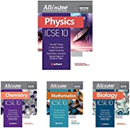 All In One ICSE Physics,Chemistry,Mathematics & Biology Class 10 2020-21(Set of 4 Bo