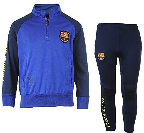 Kinder-Trainingsanzug Barça, offizielles Produkt von FC Barcelona, Kindergröße, für Jungen 10 Jahre marineblau - Messi Mütze Fc Offizielle Barcelona