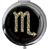 """metALUm - Extragroße Pillendose in runder Form""""Sternzeichen Skorpion in Gold"""" preisvergleich bei billige-tabletten.eu"""