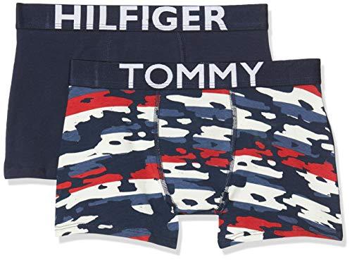 Tommy Hilfiger 2p Trunk Camo Stripe Bañador, Multicolor Multi 034, Talla única Talla del Fabricante...