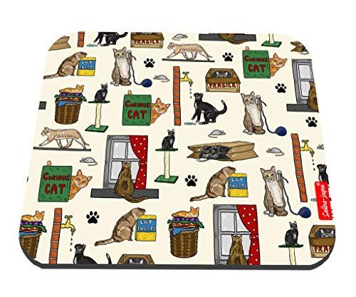 Selina-Jayne Curious Cats Limitierte Auflage Designer Mauspad -