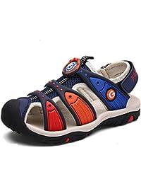 Unisex-Kids' Sandals summer sports beach sandals outdoor shoes comfortable flat walking/trekking velcro sandals
