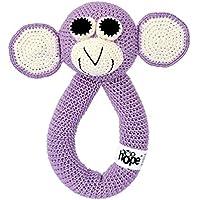 Monkey Dark Liliac. Children's crocheted toy