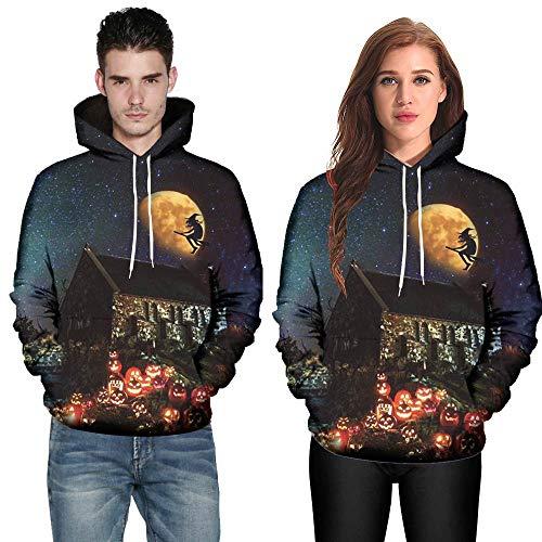 (JUSTSELL ❤ Halloween Weihnachten Langarmshirts Pullover Herren Damen Herbst Winter, Männer Frauen 3D-Druck Hoodie Kapuzenpullove Stilvoll Sweatshirt Tops (M-5XL))