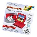 Glorex GmbH Folia 140520 - Doppelkarten, ca. 13,5 x 13,5 cm, je 5 Karten (220 g/qm), Kuverts und Einlagen, hochrot