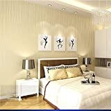 Simple Striped Wallpaper Bedroom Warm Nonwovens Wallpaper Restaurant Living Room TV Background Wallpape , Yellow , 53*1000