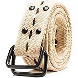HEMOON Unisex Einstellbar D Ring Guertel Belt 4cm breit
