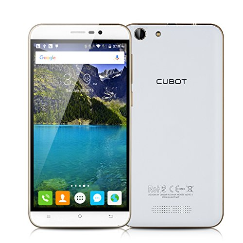 CUBOT-Note-S-3G-Smartphone-55-pollici-IPS-HD-Screen-Android-51-MT6580-Quad-Core-13GHz-2GB-RAM16GB-ROM-Dual-SIM-HotKnot-WiFi-Cellulare-Bianco