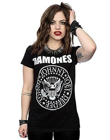 Ramones Women's Presidential Seal T-Shirt Small Black