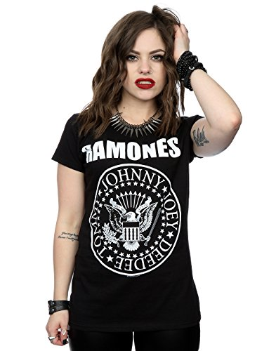 Ramones mujer Presidential Seal Camiseta Small Negro