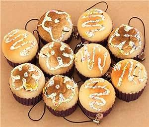 kawaii baked muffin squishy cellphone charm