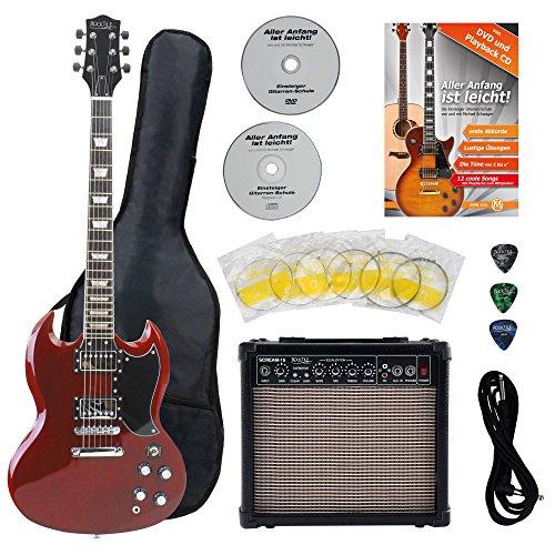 Rocktile Pro S-R E-Gitarre Heritage Starter Set + Zubehörset+ Amp