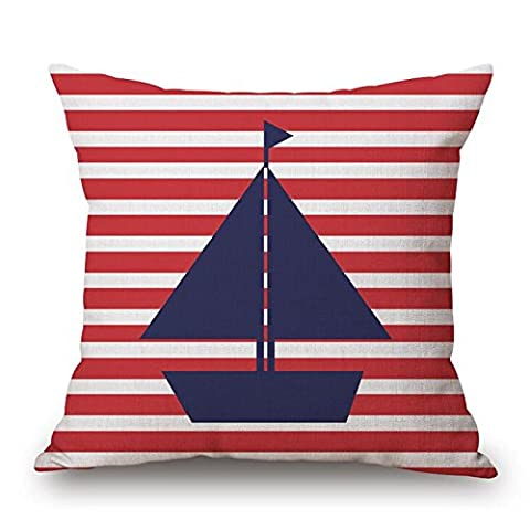 CaseShell Nautical Pillow Covers Anchor Sailor Sailing Print Cushion Case