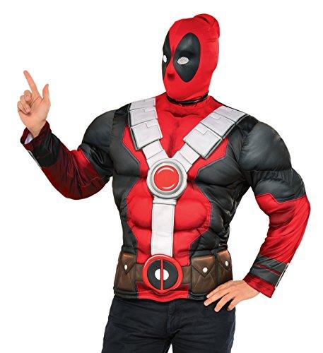 Imagen de kit disfraz de deadpool musculoso para hombre