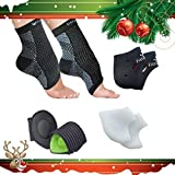 #3: Foot Sleeve, Plantar Fasciitis Silicone Gel Heel Protectors, Arch Support Therapy Wrap & Cushioned Arch Support For Men & Women - #1 Ultra Comfortable 8 Piece Compression Bundle