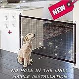 KSNOW Magic Gate – portatile pieghevole Dog barriera di sicurezza, guardia di sicurezza installare ovunque, divisorio per cani in plastica PET Dog isolato mesh cancelletto di sicurezza (43 in * 29 in)