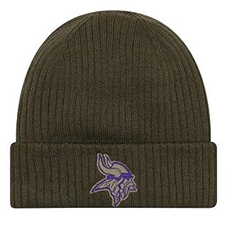 New Era Minnesota Vikings Beanie On Field 2018 Salute to Service Knit Green - One-Size