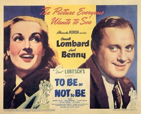 To Be Or Not To Be Affiche du film Poster Movie Être ou ne pas être (11 x 14 In - 28cm x 36cm) Style A