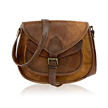 J WILSON London – Designer Genuine Real Distressed Retro Vintage Hunter Leather Handmade Women Ladies Unisex Flapover…