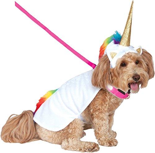 Rubies Costume Company Einhorn Umhang mit Kapuze und Tricks Halsband Pet (Einhorn Hunde Für Kostüme)
