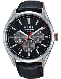 Pulsar Herren-Armbanduhr Analog Quarz Leder PT3729X1