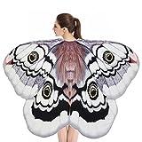 ESAILQ - Chal plegable de chifón para mujer, chal de alas de mariposa suave, capa de hada, ninfa, accesorio para disfraz 180 x 145 cm / 185 x 145 cm