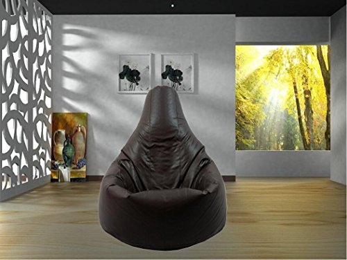 Bestllin Gamer Cushion Lounge, Sillón Puf con puños - negro- no incluye los abalorios de relleno.