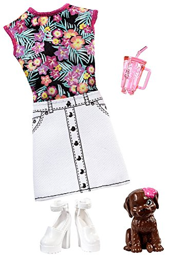 Original Barbie Mattel Barbie Kleider Set, Die Magie der Delfine - FBD87 Badekleid mit Hündchen