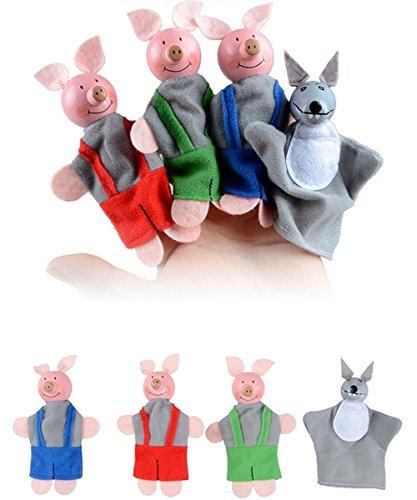 -loveso-spielzeug-4pcs-three-little-pigs-and-wolf-fingerpuppen-handpuppen-weihnachtsgeschenke