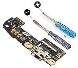 MMOBIEL Dock Connector für ASUS Zenfone 2 5.5 inch ZE550 ML ZE551 ML Mikro USB Ladebuchse mit Mikrofon vorinstalliert inkl 2 x Schraubenzieher für Installation