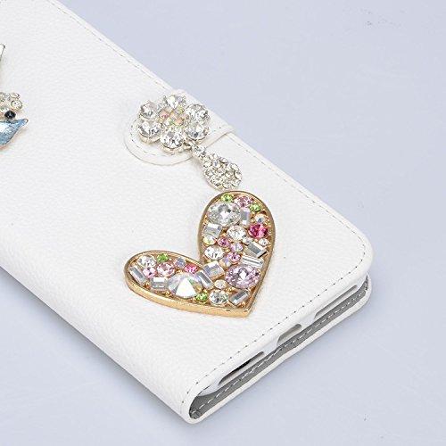 cddf11529204a ... Vandot Für iPhone X Glitzer Strass Hülle PU Leder Handyhülle mit  Handschlaufe Tasche Bling Diamant Schutzhülle ...