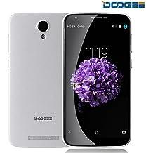 DOOGEE Y100 PLUS Moviles Libres Baratos, 4G Smartphone Libre - Android 5.1- 5.5 Pantalla HD - MT6735 64-Bit 1.0 GHz - SONY IMX219 8.0MP Cámara - Dual SIM - 2GB RAM +16GB ROM - OTG, OTA (Blanco)