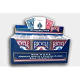Paquete de 12tarjetas de poker Bicycle estándar (6Azul/6, color rojo)