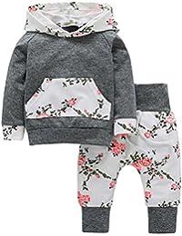 OVERMAL Baby Jungen Bekleidung Set Neugeboren Herbst Winter Baby Mädchen Set Kleidung Pullover Mit Kapuze Sweatshirt +Hosen